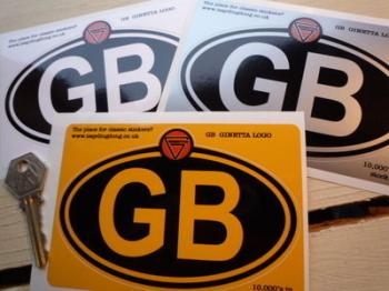 "Ginetta Logo Nationality Country ID Plate Sticker. 5""."
