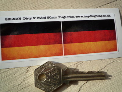 "German Dirty & Faded Style Flag Stickers. 2"" Pair."