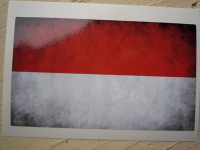 Monaco Dirty & Faded Style Flag Sticker. 4