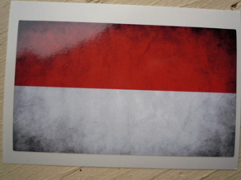 "Monaco Dirty & Faded Style Flag Sticker. 4""."