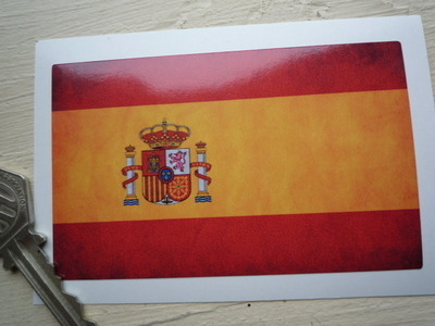 """Spanish Dirty & Faded Style Flag Sticker. 4""""."""