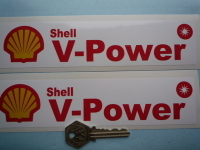 Shell V-Power Oblong Stickers. 8