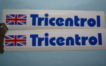 "Tricentrol Rally Oblong Stickers. 8"" Pair."