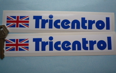 Tricentrol Rally Oblong Stickers. 8