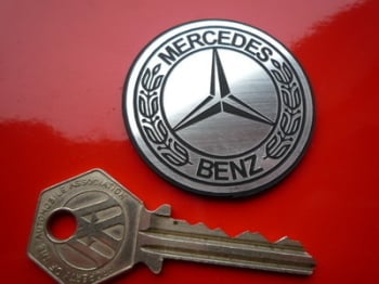Mercedes Benz Laser Cut Self Adhesive Car Badge. Siver or Gold. 48mm or 60mm.