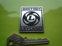 """British Leyland Square Laser Cut Self Adhesive Car Badge. 2""""."""