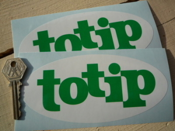 """Totip Rally Sponsors Oval Stickers. 6"""" Pair."""