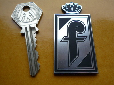 Pininfarina Crest Laser Cut Self Adhesive Car Badge. 2.5