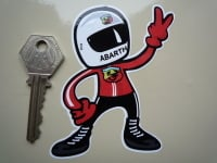 "Abarth Driver 2 Fingered Salute Sticker. 3.5""."