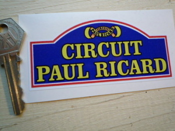 "Circuit Paul Ricard. Small Rally Plate Circuit Sticker. 4""."