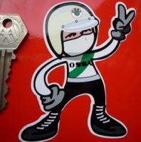 OSSA Rider 2 Fingered Salute Sticker. 3.5