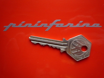 "Pininfarina Cut Vinyl Text Stickers. 4"" Pair."