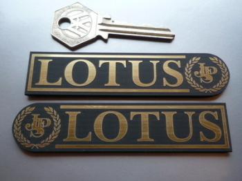 """JPS Lotus Laser Cut Self Adhesive Car Badges. 3.75"""" Pair."""