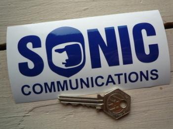 "Sonic Communications Cut Vinyl Sticker. 5""."