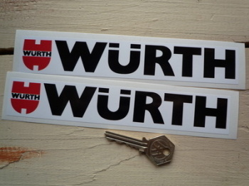 "Wurth Racing Oblong Stickers. 8"" Pair."