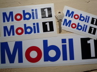 Mobil One Oblong Stickers. 4