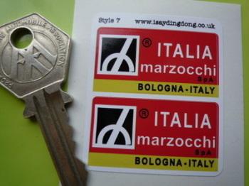 """Marzocchi Italia Suspension Stickers. 1.5"""" Pair."""
