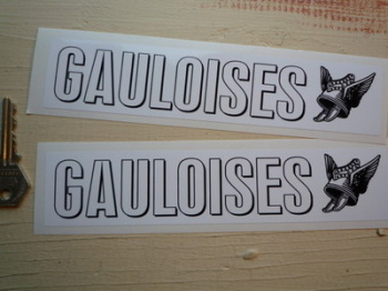 "Gauloises French Cigarette Oblong Stickers. 8"" Pair."
