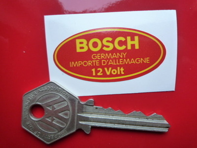 "Bosch Germany Importe D'Allemagne 12 Volt Coil Sticker. 1.5"" or 2""."