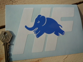 "Lancia Delta Integrale HF Blue & White Sticker. 6""."