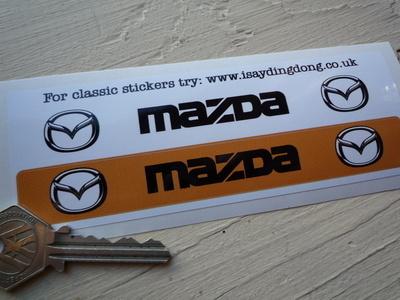 Mazda Number Plate Dealer Logo Cover Stickers. 5.5