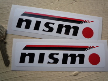 "Nismo Nissan Motorsport Oblong Stickers. 5"" Pair"