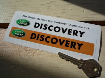 "Land Rover Discovery Number Plate Dealer Logo Cover Stickers. 5.5"" Pair."