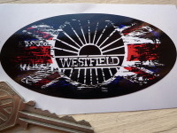 Westfield Fade to Black Union Jack Sticker. 4