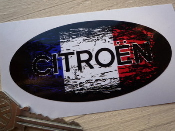 "Citroen Fade to Black French Oval Sticker. 4""."
