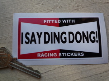 "I Say Ding Dong Champion Style Stickers. 4"" Pair."