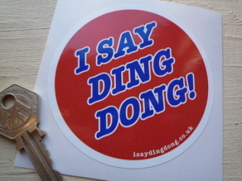"I Say Ding Dong Union 76 Style Stickers. 3.25"" Pair."