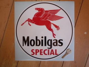 Mobil Mobilgas Special Circular Sticker. 6.5.