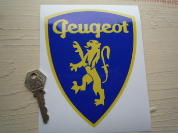 "Peugeot Classic Lion in Shield Sticker. 6""."
