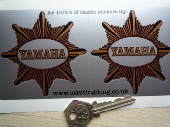 "Yamaha BSA Star Style Stickers. 3"" Pair."