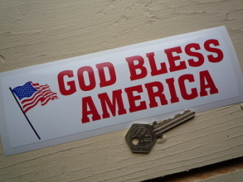"God Bless America Bumper Sticker. 8""."