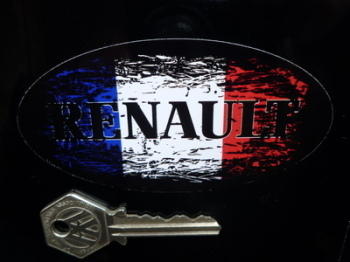 "Renault Fade to Black French Oval Sticker. 4""."