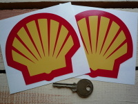Shell Modern Logo Stickers. 3
