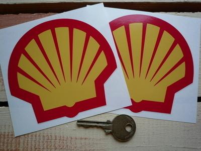 Shell Modern Logo Stickers. 4