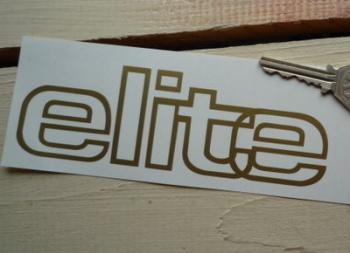 "Lotus Elite Outline Style Cut Vinyl Sticker. 6""."