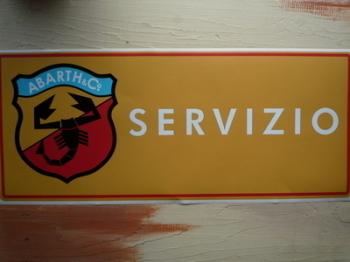 """Abarth Servizio Yellow Workshop Sticker. 23.5""""."""