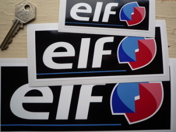 "Elf Later Style Oblong Stickers. 4"", 6"", 8"" or 10.5"" Pair."