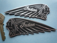Indian Chief Long Headdress Self Adhesive Motorcycle Badges. 4.5