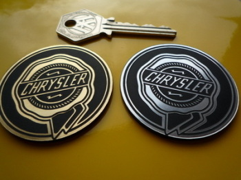 "Chrysler Rosette Self Adhesive Car Badge. 2""."