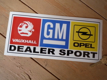 "Vauxhall Dealer Sport Oblong Stickers. 8.5"" or 10.5"" Pair."