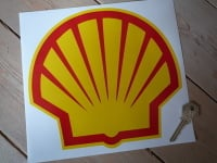 Shell Modern Logo With Yellow Border Sticker. 5.5