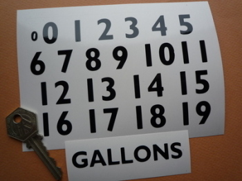 Beckmeter Style Petrol Pump Number Sticker Set. 18mm.