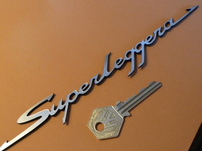 Superleggera Script Laser Cut Self Adhesive Car Badge. 8