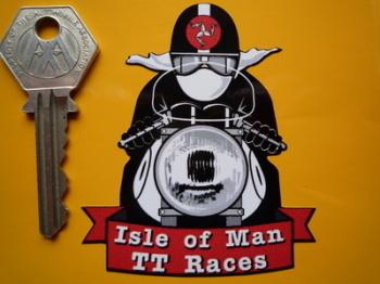 """TT Races Isle of Man Cafe Racer Sticker. 3""""."""