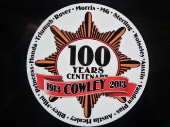 "Morris Works Cowley Plant 100 Years Centenary Sticker. 3"" or 4""."