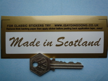 "Made in Scotland Sticker. Cut Vinyl.  4""."